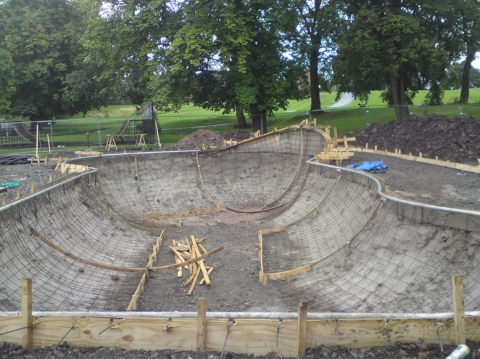 Construction continues at Macclesfield Skatepark