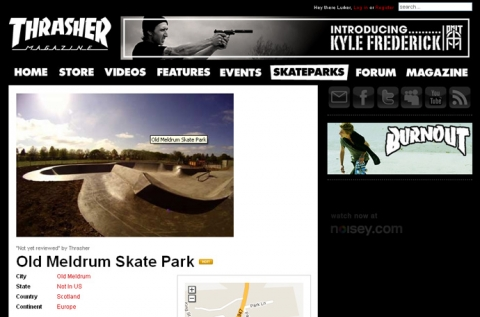 Old Meldrum made it onto the Thrasher site